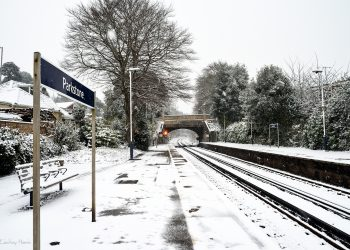 Parkstone Station in the snow, 2018.