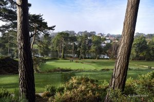 Parkstone Golf course - looking across the lake towards Compton Avenue, Poole.