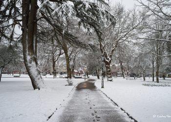Snow at Parkstone Park, Ashley Cross, Lower Parkstone, Poole