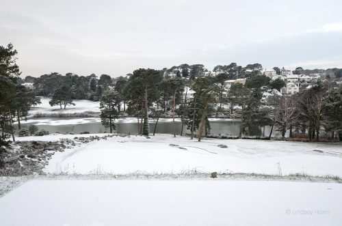 Parkstone Golf course, snow, Poole.