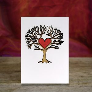 Love Tree - 3D wooden greetings card.