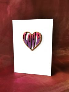 Pink & Purple Love Heart Card
