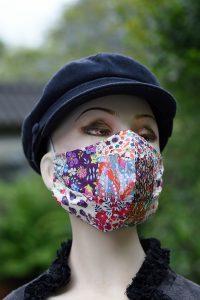 Liberty print patchwork face mask - 100% cotton, handmade.