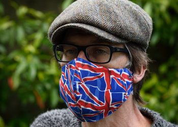 Union Jack fitted cotton face mask.