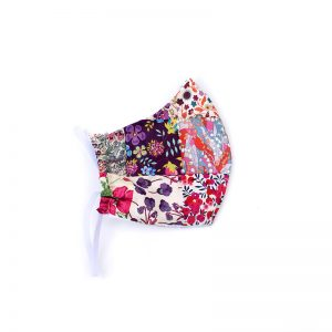 Limited edition Liberty print patchwork face mask - 100% cotton, handmade.