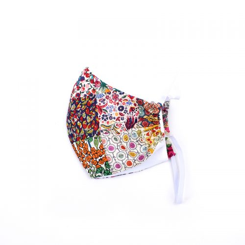 Limited edition patchwork face mask - 100% cotton, handmade.