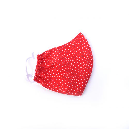 Red & white stars face covering.