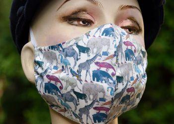 Liberty print safari animals face mask.