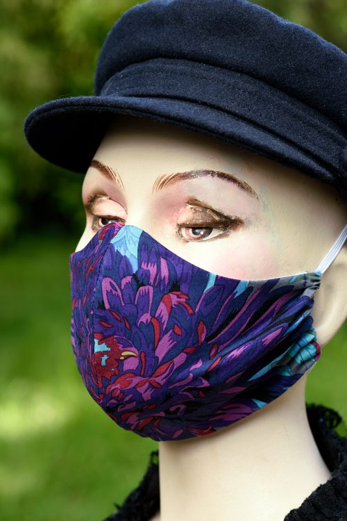 Kaffe Fassett fabric face mask.