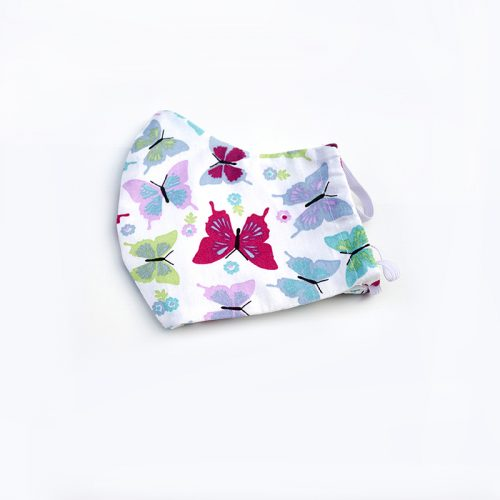 Pretty butterflies face mask. 100% cotton.