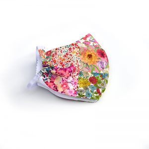 Liberty print patchwork face mask - 100% cotton, handmade.
