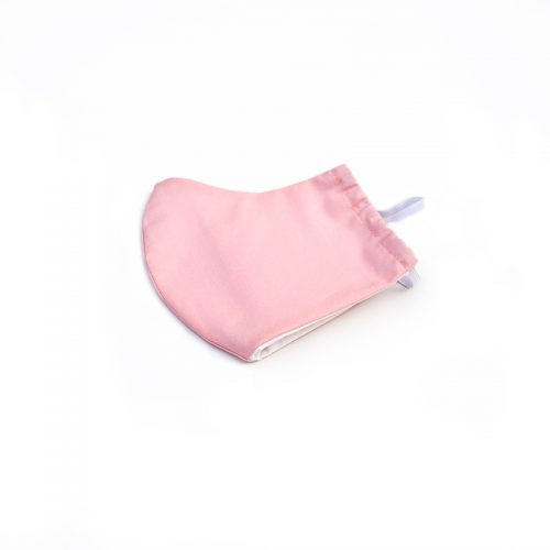 Pink face mask, 100% cotton.