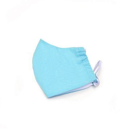 Turquoise face mask, 100% cotton.