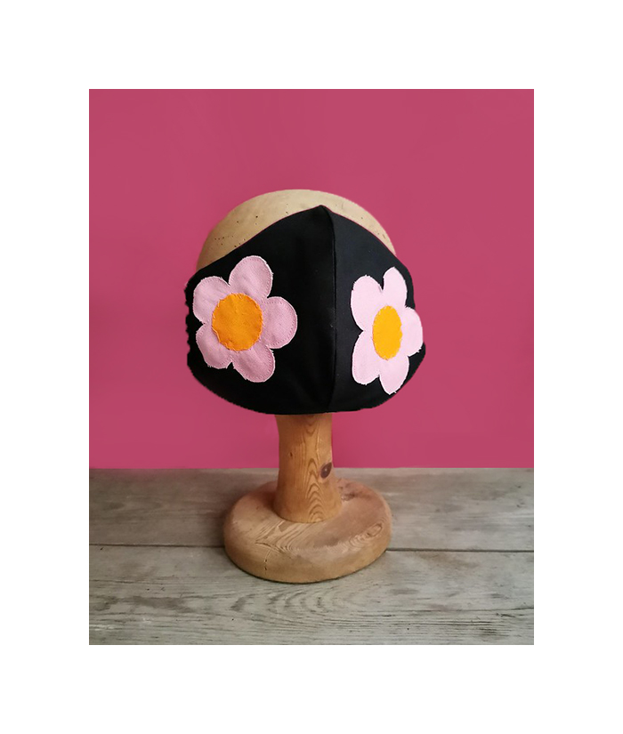 Folk art inspired face mask, 100% cotton.