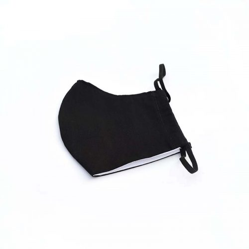 Black Face Mask, 100% Cotton