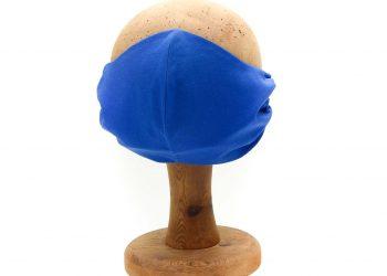Cobalt blue face mask, 100% cotton.