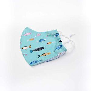 Swimming fish face mask, 100% cotton.