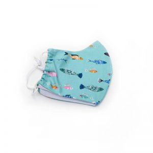Swimming fishes face mask, 100% cotton.