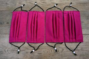 Hot pink face masks for sale.