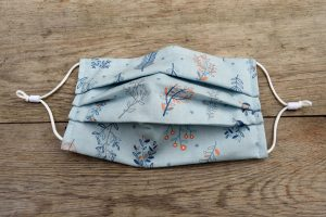 Wildflowers cotton floral face mask.