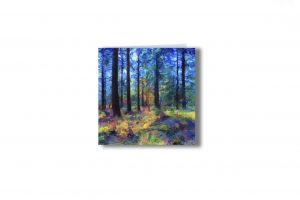'Bolderwood 3' - Trees at Bolderwood, New Forest, UK. Art greetings card by Lindsey Harris.